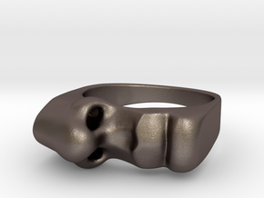Taste and Smell ring in Polished Bronzed Silver Steel: 7 / 54