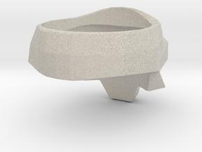 Skull Ring Size-9 in Natural Sandstone