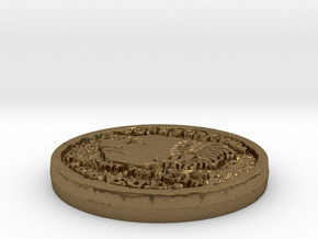 Zorkmid Coin in Natural Bronze