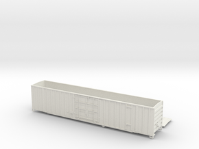 Gunderson 60' Box Car Single Plug Door O Scale NF in White Natural Versatile Plastic