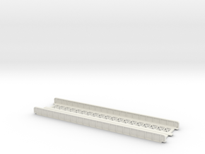 STRAIGHT 220mm DOUBLE TRACK VIADUCT in White Natural Versatile Plastic