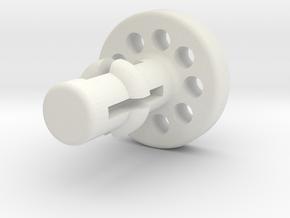 LegPlugFenceSideWithSlideLockPin 111002 in White Natural Versatile Plastic