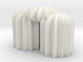 3Star12domes in White Natural Versatile Plastic