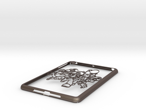 Ipad-cover-marios in Polished Bronzed Silver Steel
