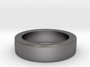 Men's Size 10 US Single Bubble Ring in Polished Nickel Steel