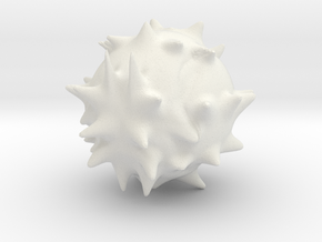 blobbyspike in White Natural Versatile Plastic