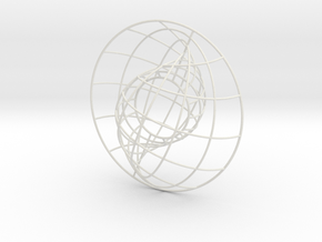 Nesting Spheres 6in in White Natural Versatile Plastic