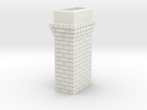 Brick Chimney 03 7mm scale in White Strong & Flexible