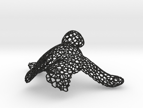 A'Tuin the Turtle in Black Natural Versatile Plastic