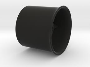 25mm flanged EDF case in Black Natural Versatile Plastic