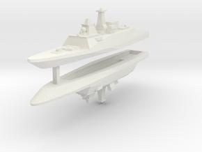 FREMM Frigate 1:3000 x2 in White Natural Versatile Plastic