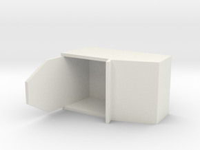 "Simple Action Figure Seat - 3-3/4"" Scale in White Natural Versatile Plastic"