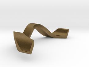 RING WAVE ADJUSTABLE INNER PART in Natural Bronze