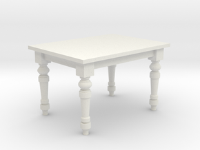 1:24 Farmhouse Dining Table in White Natural Versatile Plastic