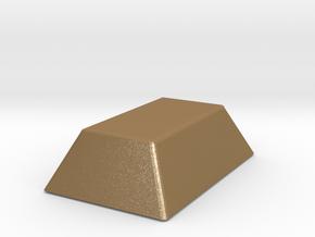 Mini Gold Bar in Matte Gold Steel