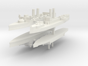 Span-Am Fleet 1:2400 (4 Ships) in White Natural Versatile Plastic
