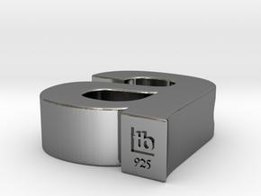 Typeberlin A Pendant in Premium Silver
