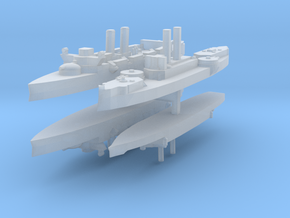 Span-Am Fleet 1:2400 (4 Ships) in Smooth Fine Detail Plastic