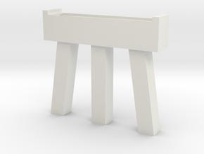 Bridge HO scale pier  in White Natural Versatile Plastic