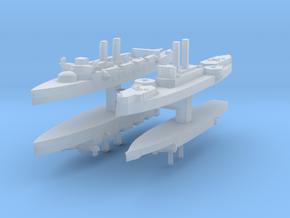 Span-Am Fleet 1:4800 (4 Ships) in Smooth Fine Detail Plastic