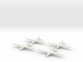 Aeronautica Lombarda AL-12P-1/1600 Scale (Qty.4) ( in White Natural Versatile Plastic