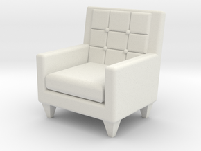 1:24 Sixties Armchair in White Natural Versatile Plastic
