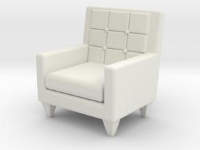 1:24 Sixties Armchair in White Natural Versatile Plastic