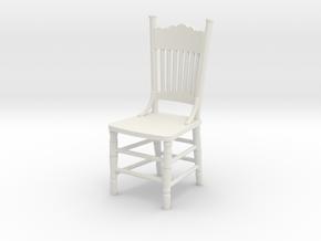 1:24 Kitchen Chair in White Natural Versatile Plastic