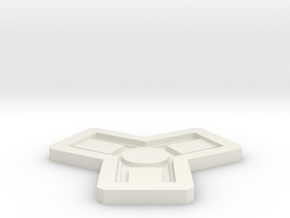 Catan Mold in White Natural Versatile Plastic