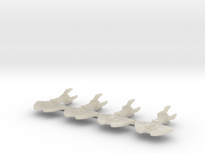 4 x roslin sprue in White Acrylic