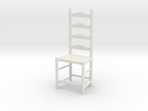 1:24 Lad Chair 7 in White Natural Versatile Plastic