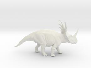 Styracosaurus 1:35 v1 in White Strong & Flexible