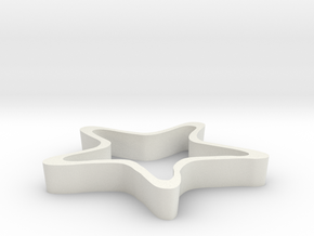 Starfish Cookie Cutter in White Natural Versatile Plastic