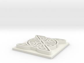 Celtic Knot in White Natural Versatile Plastic