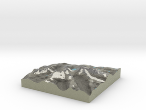 Terrafab generated model Mon Jan 20 2014 03:24:36  in Full Color Sandstone