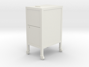 1:24 Filing Cabinet in White Natural Versatile Plastic