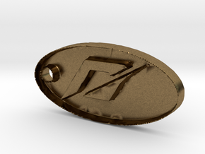 Need For Speed Dog Tag  in Natural Bronze