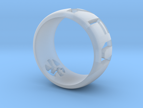 YFU Ring Cut Out in Smooth Fine Detail Plastic