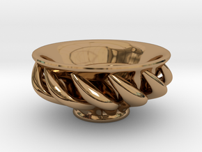 """Spiral """"Guinomi"""" Cup-01 in Polished Brass"""