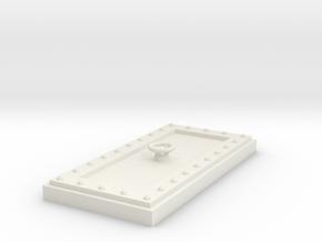 Heavy Reinforced Door 28mm scale in White Natural Versatile Plastic