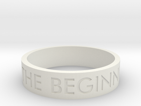 The End Is The Beginning Is The End (Size 9) in White Natural Versatile Plastic