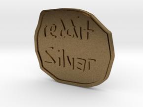 Reddit Silver Coin in Natural Bronze