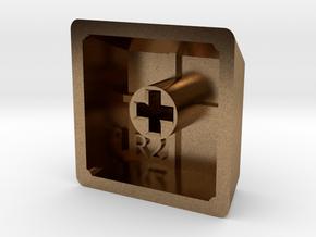 Blank Keycap (R2, 1x1) in Natural Brass