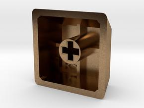 Blank Keycap (R3, 1x1) in Natural Brass