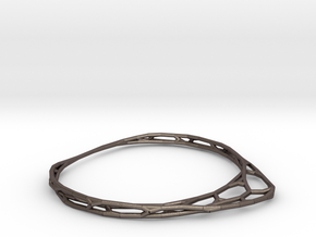 Minimalist Bracelet (small) in Polished Bronzed Silver Steel