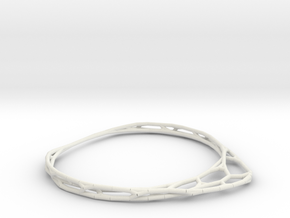 Minimalist Bracelet (small) in White Natural Versatile Plastic