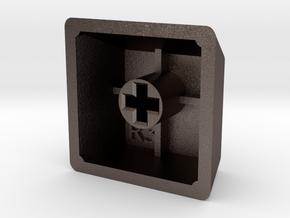 Blank Keycap (R3, 1x1) in Polished Bronzed Silver Steel
