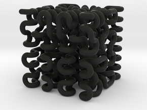 3rd Order 3D Hilbert Curve in Black Strong & Flexible