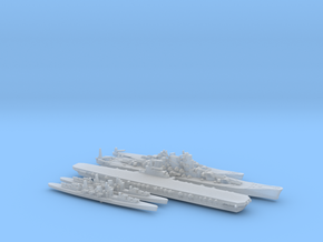 1/2400 Scale Never Were IJN Fleet in Smooth Fine Detail Plastic