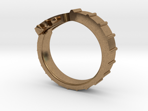 Guitar ring in Natural Brass